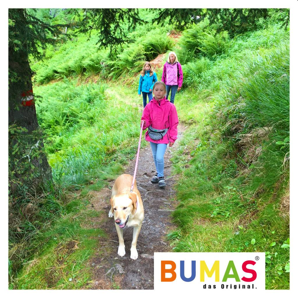 BUMAS - das Original. BUMAS - easy going - leash made of BioThane® in red