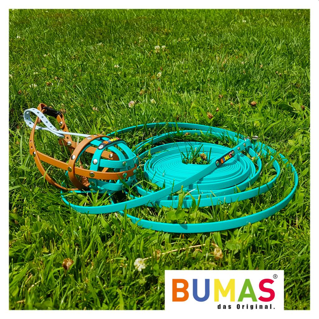 BUMAS - das Original. BUMAS - sport - BioThane® Schleppleine in neongrün