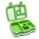 bentgo Bentgo-KIDS mit 5 Unterteilungen, Auslaufsicher - Grün