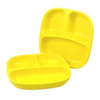 Re-Play Re-Play Teller mit 3fach Unterteilung-  gelb