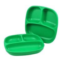 Re-Play Re-Play Teller mit 3fach Unterteilung - grün