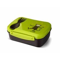 Carl Oscar Carl Oscar - Znüni Box mit Kühlakku und Besteck - Affe