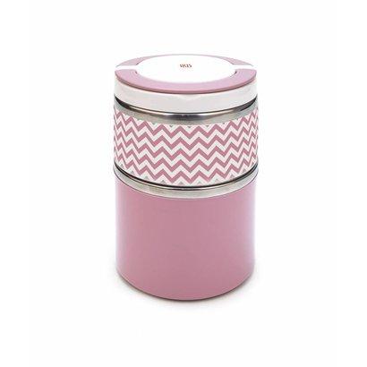 IRIS INOX Thermo Speisebehälter 2 in 1 Pink 900ml