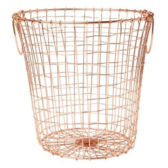 Round Copper Wire Basket