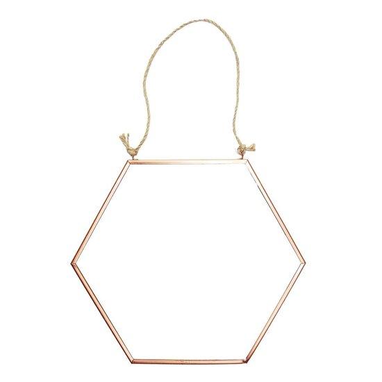 Copper Hexagon Mirror