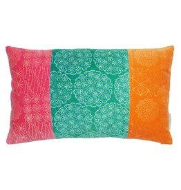Bright Velvet Patchwork Cushion