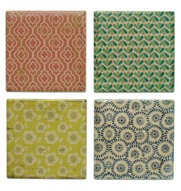 Colourful Ceramic Coasters, Set of 4