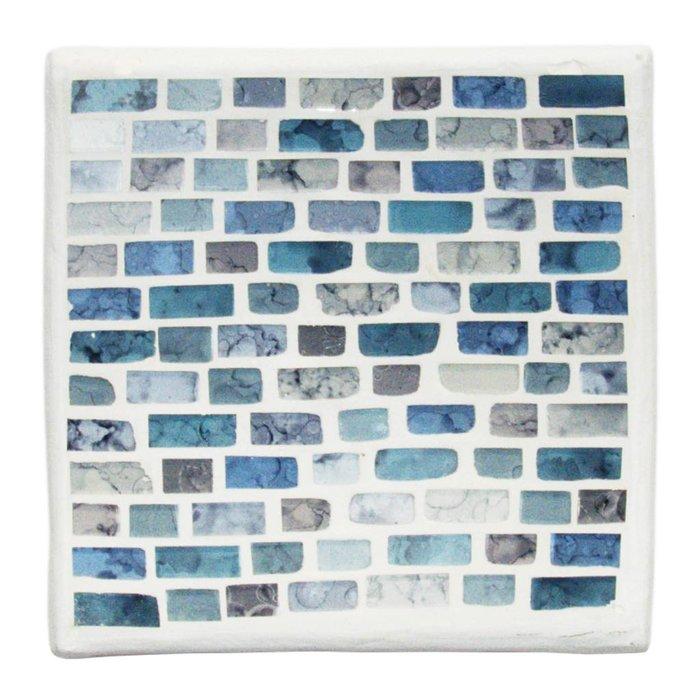 Mosaik Schale in Blautönen