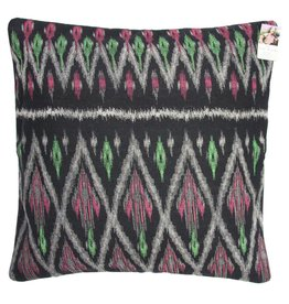 Tribal Printed Black Cushion Cover