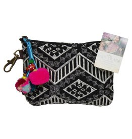 Embroidered Zigzag Coin Purse