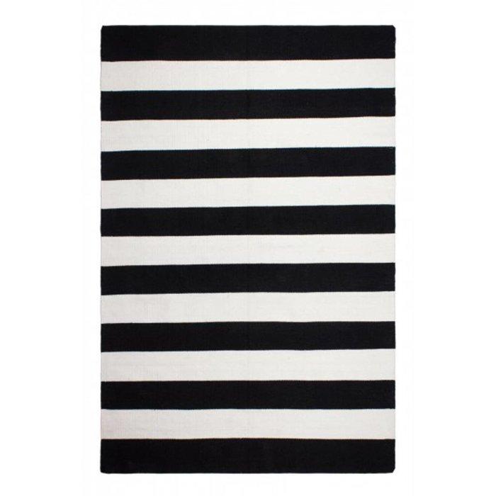 recycelter schwarz wei gestreifter teppich nantucket bersama. Black Bedroom Furniture Sets. Home Design Ideas