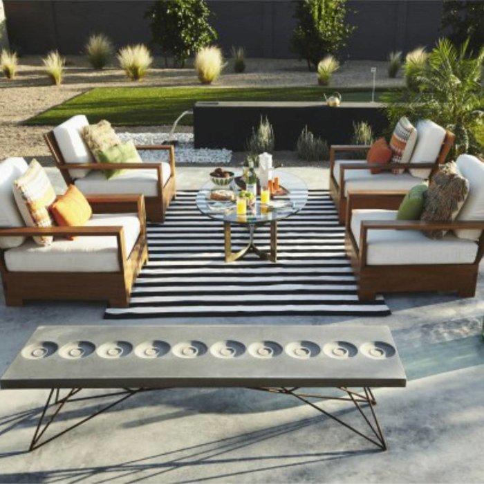 recycelter schwarz wei gestreifter teppich nantucket. Black Bedroom Furniture Sets. Home Design Ideas