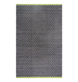 Recycelter schwarz-weiß gemusterter Teppich Vernon