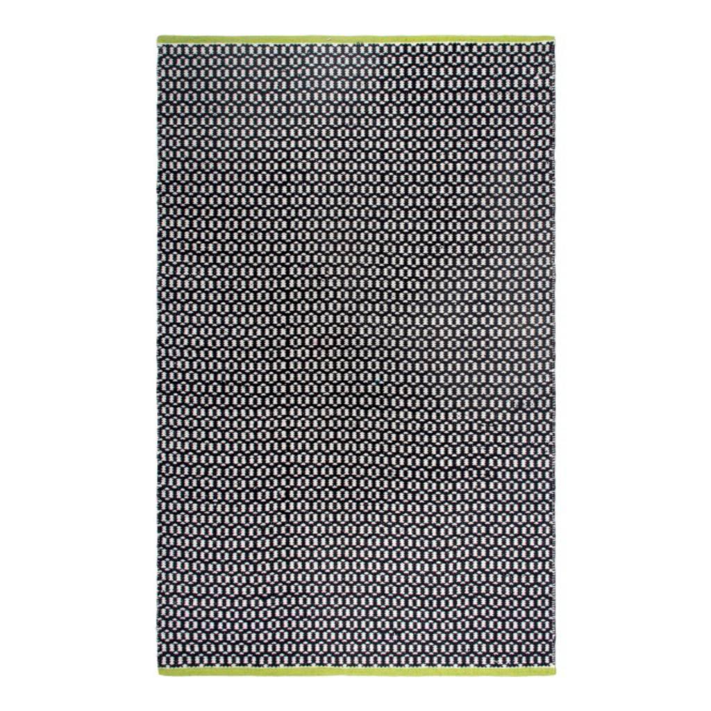 recycelter schwarz wei gemusterter teppich vernon bersama. Black Bedroom Furniture Sets. Home Design Ideas