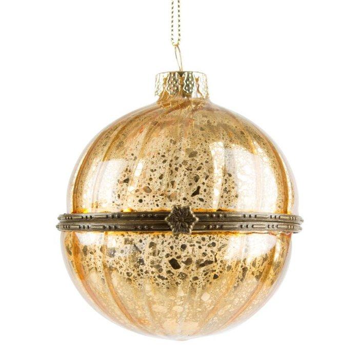 Befüllbare goldene Weihnachtskugel