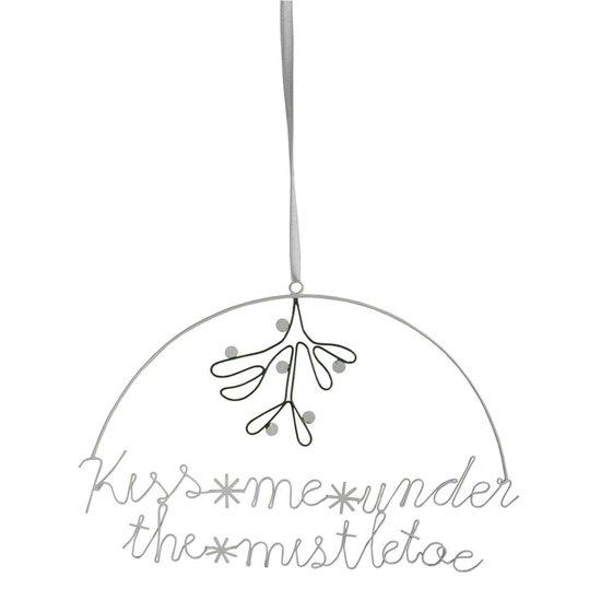 Weihnachtsdeko 'Kiss Me Under The Mistletoe'