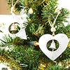 Weihnachtstern Hängedekoration mit Glöckchen