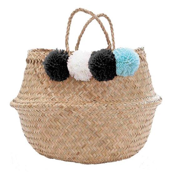 Belly Basket with Pom Poms