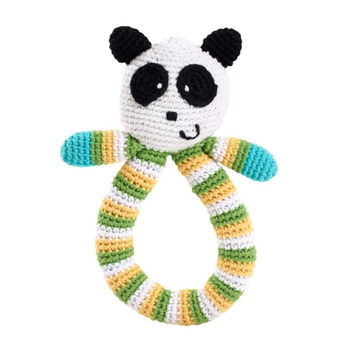Greifring Panda mit Rassel
