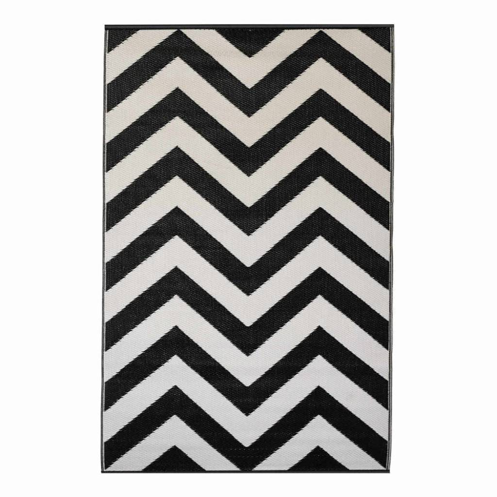 recycled black  white chevron rug laguna  bersama -