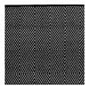 Schwarz-weißer Teppich Zen aus recycelter Baumwolle