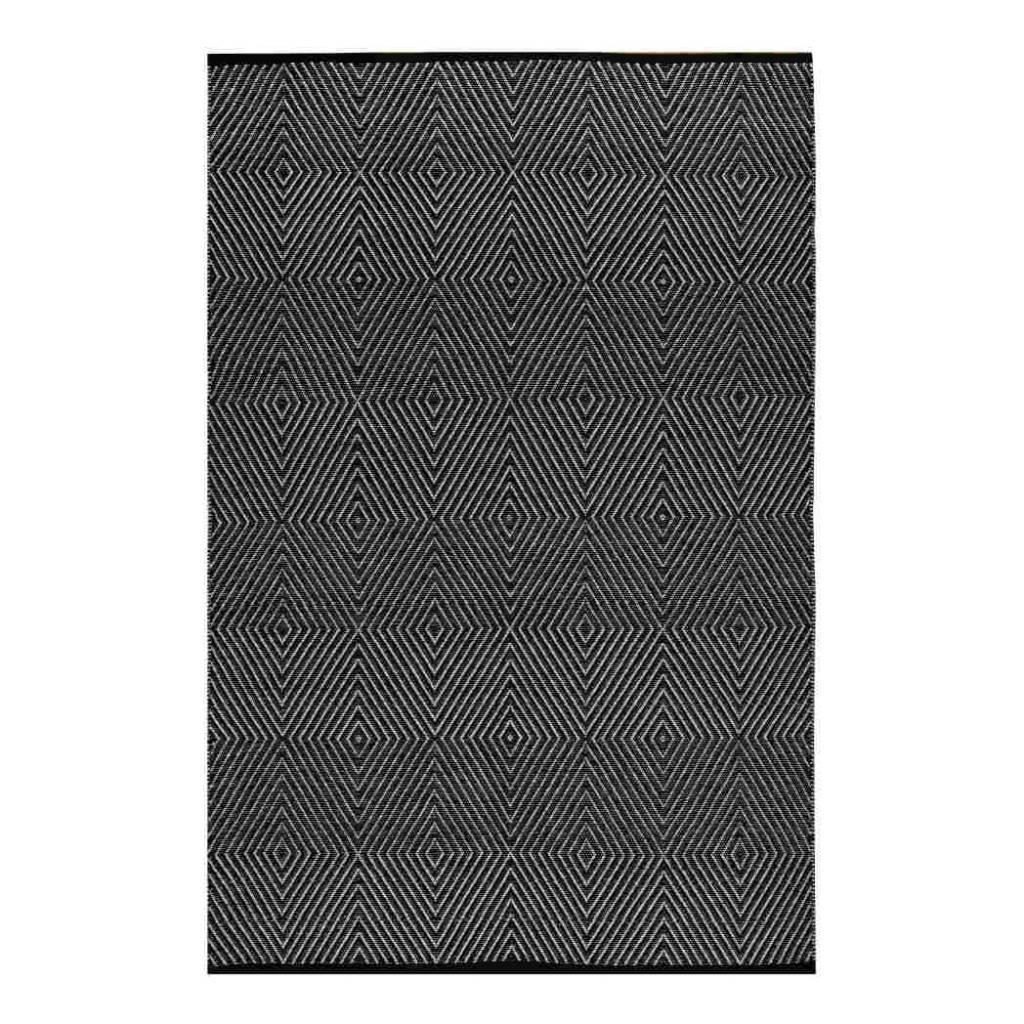 schwarz wei er teppich zen aus recycelter baumwolle bersama. Black Bedroom Furniture Sets. Home Design Ideas