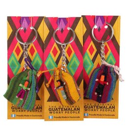 Guatemalan Worry Dolls Keyring