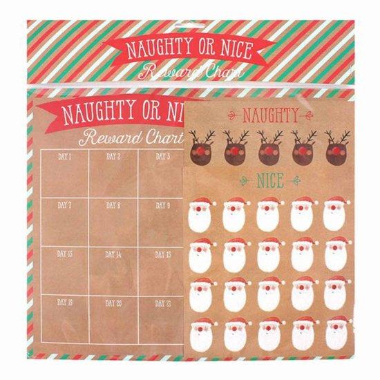 Weihnachts-Belohnungstafel 'Naughty or Nice'