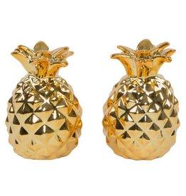 Gold Pineapple Salt & Pepper Shaker