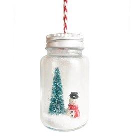 Snowman Christmas Jar Bauble