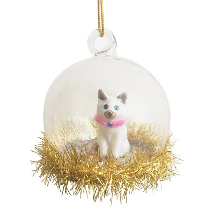 Siamese Cat Christmas Bauble