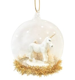 Gold & White Unicorn Bauble