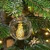 Offene Weihnachtskugel Ananas