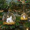 Gold & White Unicorn Bauble
