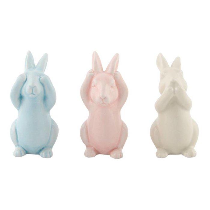 Pastel Easter Bunnies Set