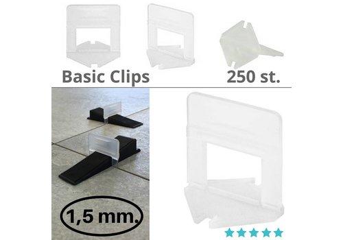 Levlr. 1,5 mm. Levelling clips Basic 250 st.