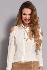 Rachel Moore Open shoulder white blouse