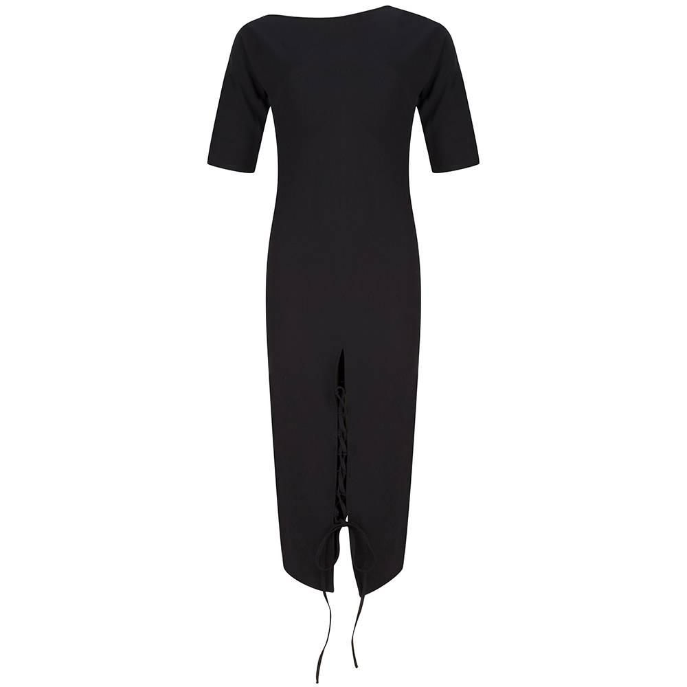 Rachel Moore Black lace up dress