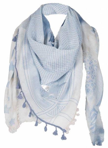 Sjaal Spring blauw