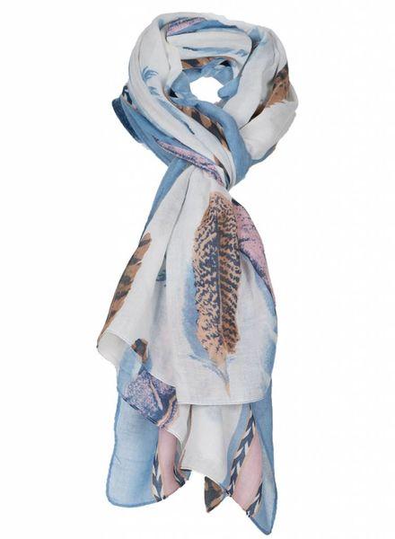 Sjaal Feather blauw