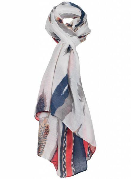 Sjaal Feather blauw/rood
