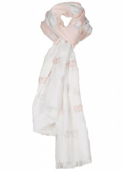 Sjaal Vlinder zalm