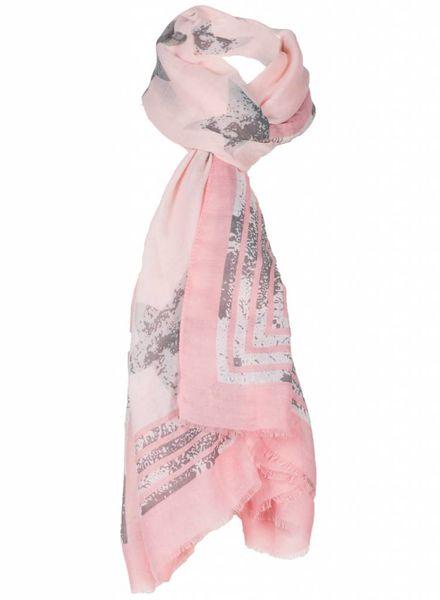 Sjaal Stars roze/zalm