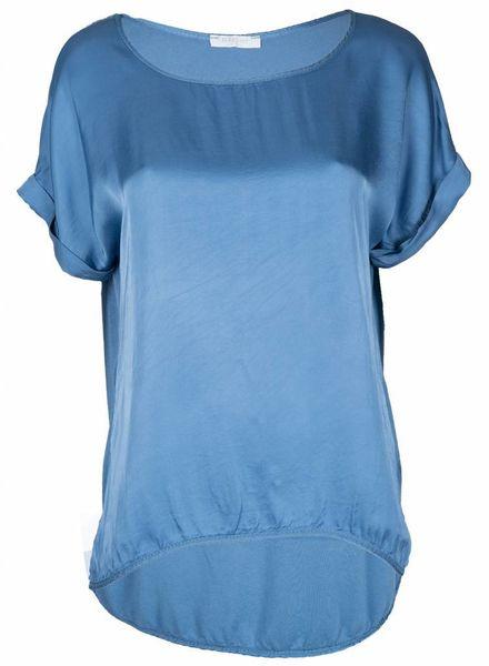 Gemma Ricceri Shirt silk touch blauw