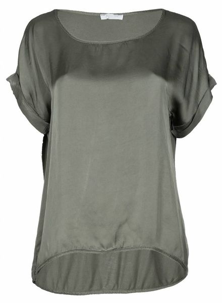 Gemma Ricceri Shirt silk touch army