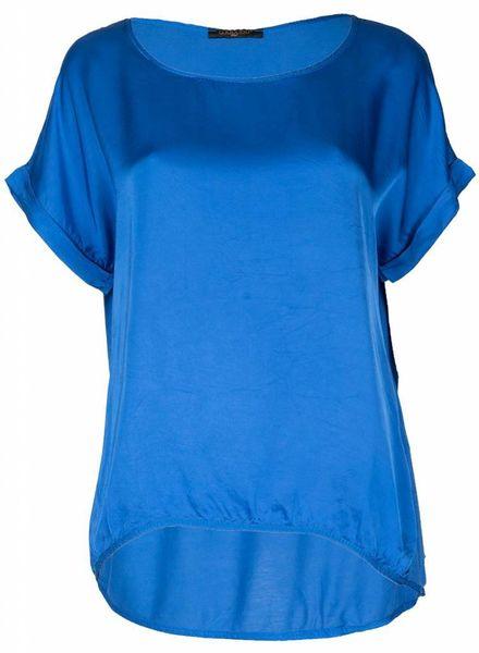 Gemma Ricceri Shirt silk touch kobalt
