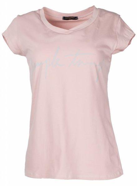 Gemma Ricceri Shirt simple things oud roze