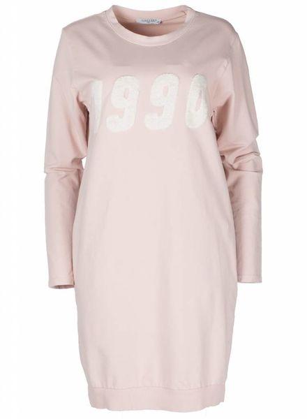 Gemma Ricceri Sweaterdress 1990 Oud Roze