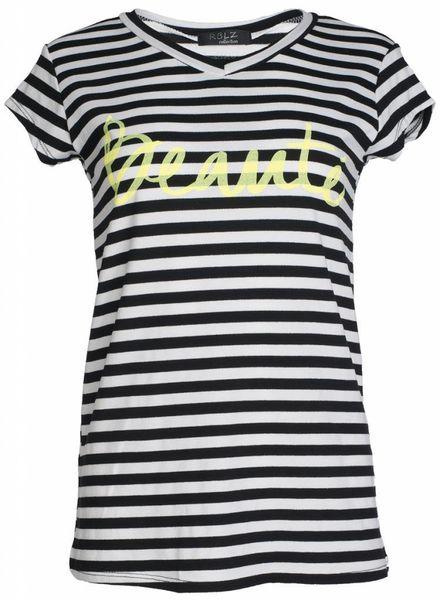 Gemma Ricceri Shirt Beauté zwart/geel