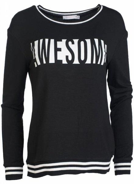 Gemma Ricceri Shirt Awesome zwart